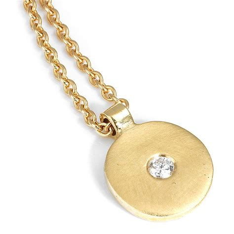 gold disc pendant by shona jewellery
