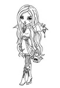 Anime Vampire Girl Coloring Pages Coloring Home