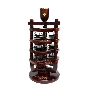 tempat tatakan air minum mineral unik bahan kayu jati model kura kura 1 jual produk tatakan gelas kayu harga promo diskon