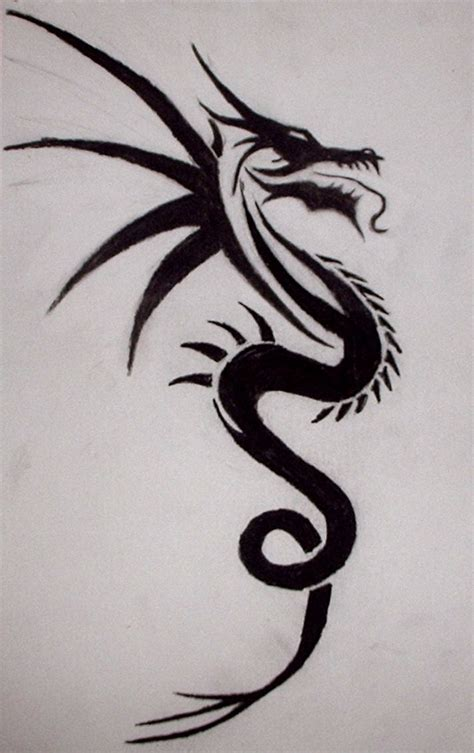 tribal dragon tattoo drawings tribal by xx of deth xx on deviantart