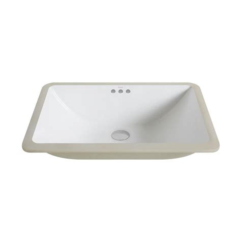White Rectangular Undermount Bathroom Sink by Kraus Elavo Large Rectangular Ceramic Undermount Bathroom