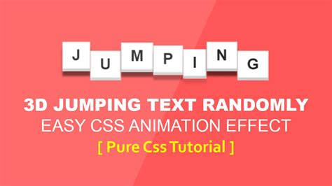 css tutorial text css 3d text jumping animation latest css animation