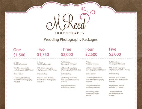 wedding deals wedding photography packages