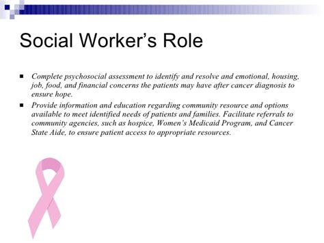 Social Workers Duties And Responsibilities by Oncology Social Work