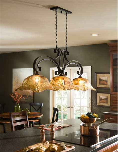 Island Lighting Kitchen Vetraio Rubbed Bronze Kitchen Island Light Toffee Glass By Uttermost Mediterranean