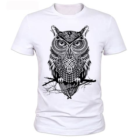 Owl T Shirt For Mens homme owl t shirt mens brand shirt 2016 t shirt