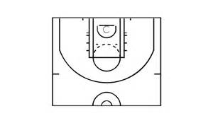 Basketball Half Court Template by Basketball Plays Diagrams Basketball Court Diagram And