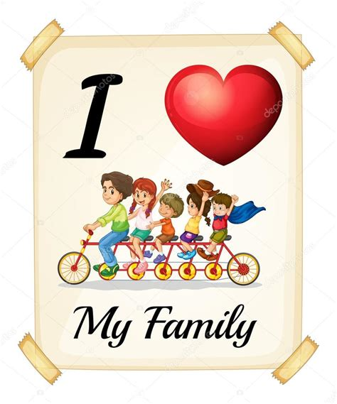 Imagenes De I Love Your Family   amo a mi familia vector de stock 169 interactimages 68671679