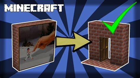 minecraft     secret painting door
