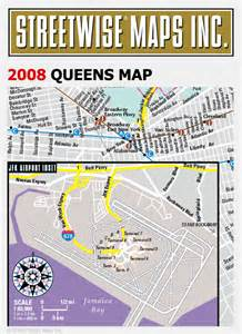 Map Of Queens New York by Streetwise 174 Maps