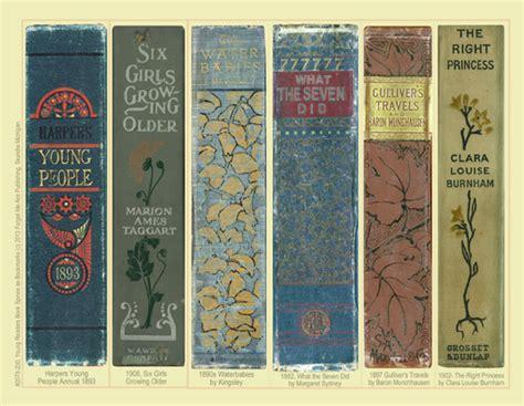 printable bookmarks for books free bookmarks antique book spine bookmarks bibliothēkē