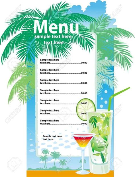 32 Bar Menu Designs Free Premium Templates Cocktail Menu Template Free
