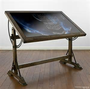 steunk furniture drafting table computer
