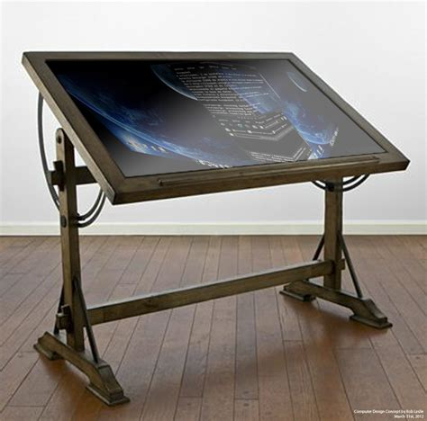 steunk desk l drafting table computer