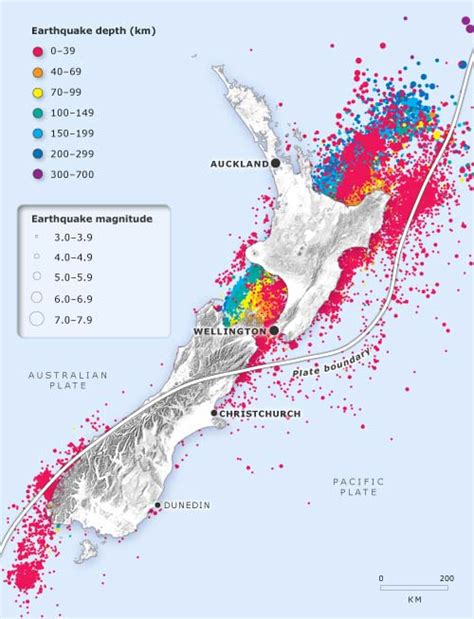 earthquake zones nz earthquake map nz