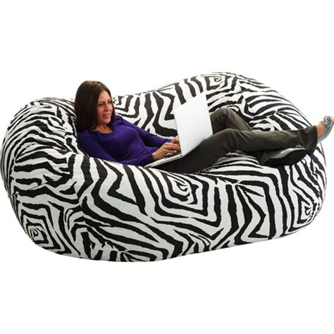 Big Bean Bag Chairs Walmart by Large 6 Fuf Bean Bag Chair Zebra Walmart