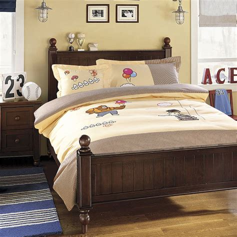 coverlet full size cartoon bears applique embroidered bedding sets twin full