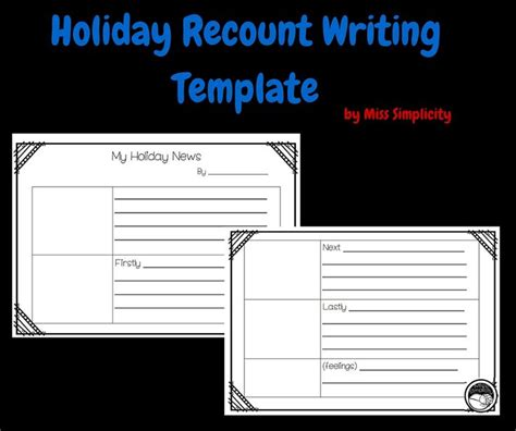 recount template 25 best recount writing ideas on