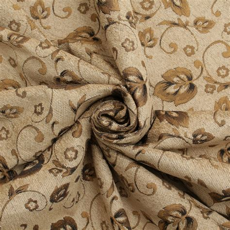 Vintage Upholstery Fabric Floral Chenille Vines Vintage Traditional Jacquard