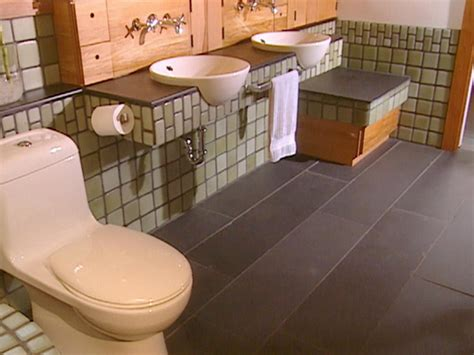 bathroom recycling recycled master bathroom hgtv