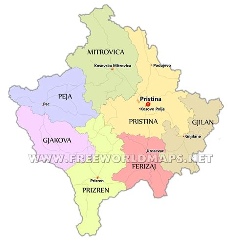 kosovo on the world map kosovo maps by freeworldmaps net