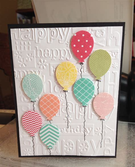 cricut cards birthday balloon card embossing folder cricut ctmh
