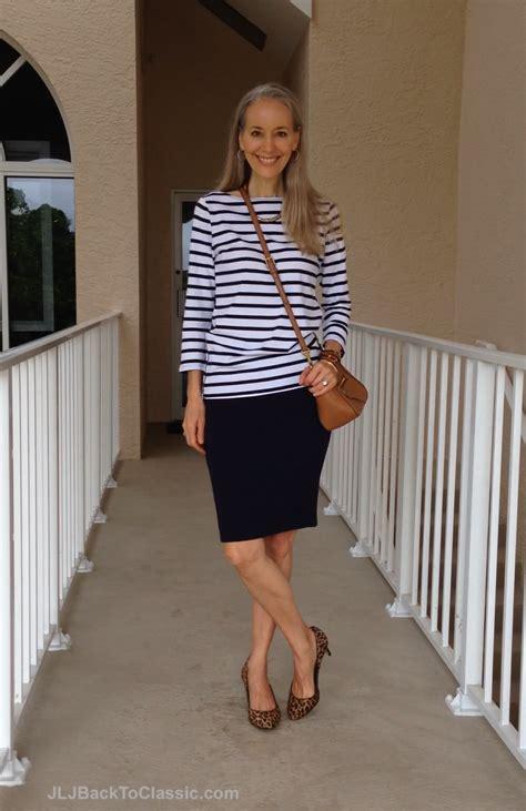 Gap Striped Pencil Skirt casual uncomplicated striped gap top max studio