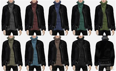 Jaket Vest Hoodie Xcom 2 Advent 3 my sims 4 jacket with turtleneck sweater and