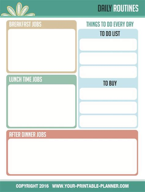 free printable household notebook planner pages complete household notebook to be trusted to keep you
