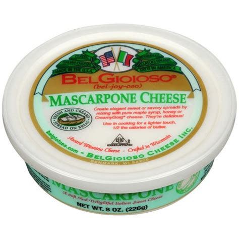 bel gioioso mascarpone cheese 8 oz walmart com