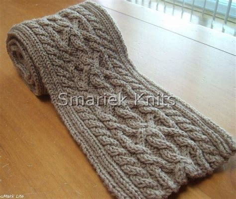 triumph cable scarf pattern smariek knits