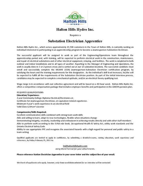 electrician apprentice cover letter cover sample