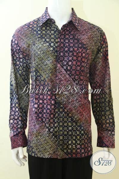 Kemeja Batik Lengan Panjang Motif Songket Prada Halus Ready Seragam kemeja batik bagus dan halus warna dan motif unik trend masa kini pakaian batik pesta model