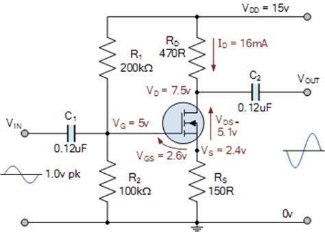 single stage transistor lifier theory mosfet lifier circuit using an enhancement mosfet