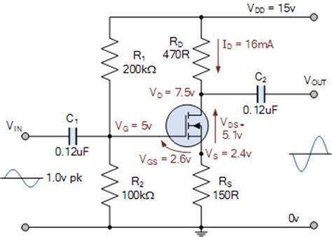 mosfet transistor audio lifier mosfet lifier circuit using an enhancement mosfet