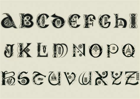 printable irish font celtic alphabet by ziade on deviantart