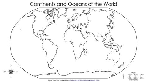 printable quiz continents and oceans blank map label continents