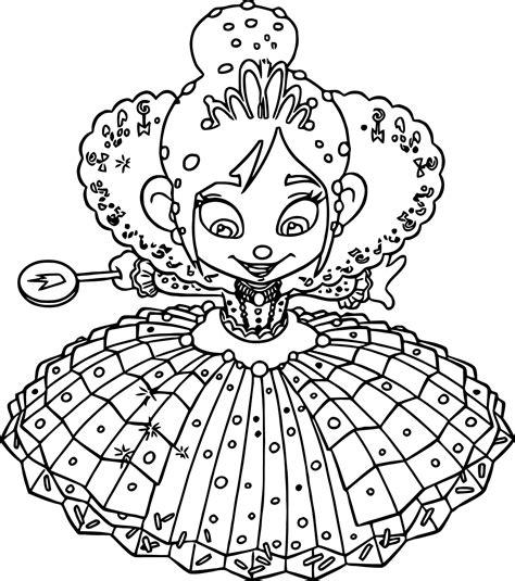 Wreck It Ralph Vanellope Von Schweetz Princess Girl Wreck It Ralph Vanellope Coloring Pages