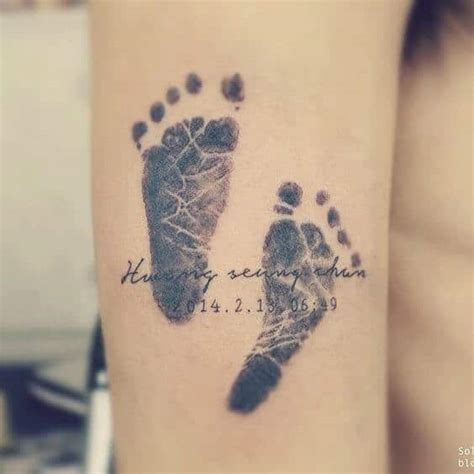 Name Tattoos For Women Ideas And Designs For Girls Baby Footprint Tattoos On 2