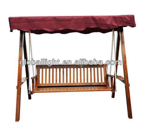 Patio Swing Liner Hammock 3 Seater Garden Swing Bench Swing Wooden Swing