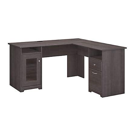 bush furniture l shaped desk bush furniture cabot l shaped desk gray standard
