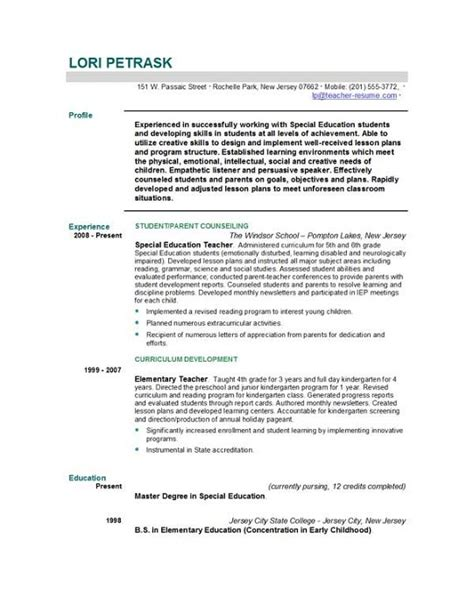 Exles Of Well Written Resumes by Resume