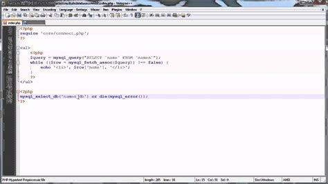 tutorial video php php tutorials selecting and using multiple mysql datab