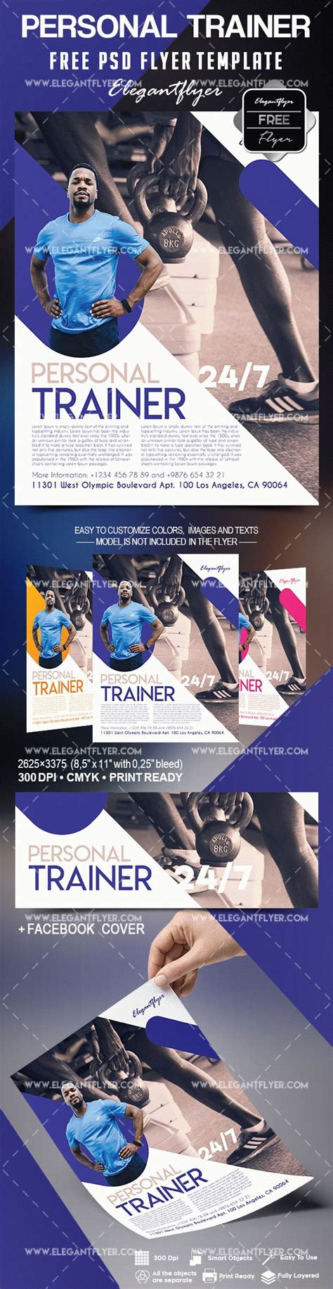 Personal Trainer Free Flyer Psd Template By Elegantflyer Personal Flyer Template