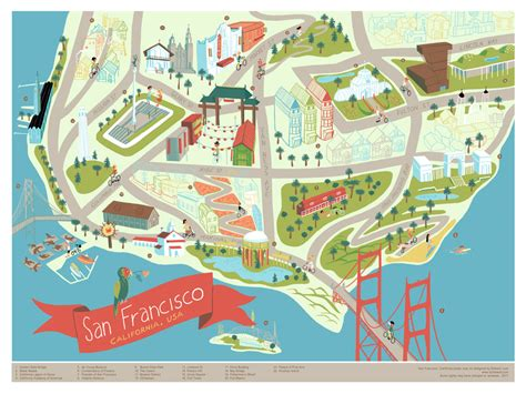 san francisco eater map 21 gorgeous illustrated maps of san francisco upout