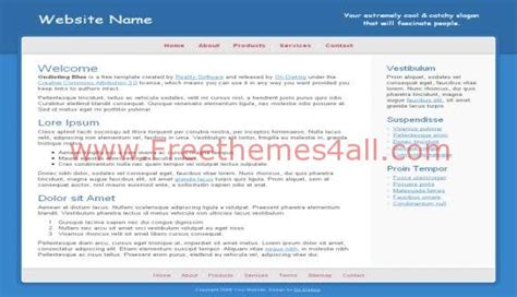 free personal website templates html css free blue white personal css website template freethemes4all