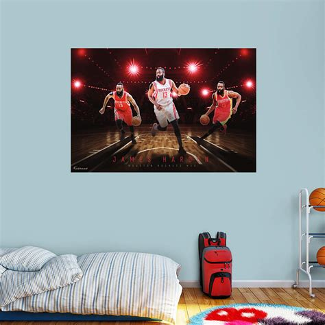 nba wall murals harden montage mural wall decal shop fathead 174 for