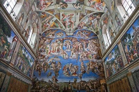 Italian Artist Who Painted The Ceiling Of The Sistine Chapel by Sistine Chapel Vatican Italy The Ceiling Painted By