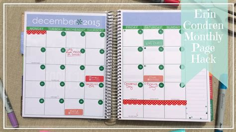this is the day planner diary by erin rippy diy erin condren hack change your monthly calendar pages to