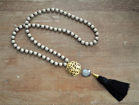Anting Tassel Black I You how to make diy beaded tassel necklaces
